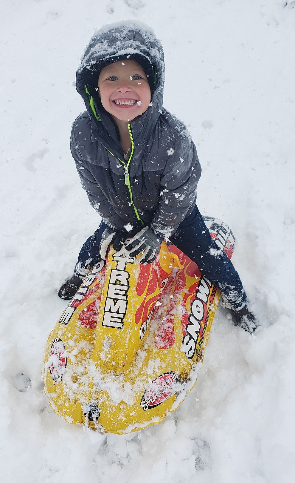 Liam Reed sledding (Brandy Reed)