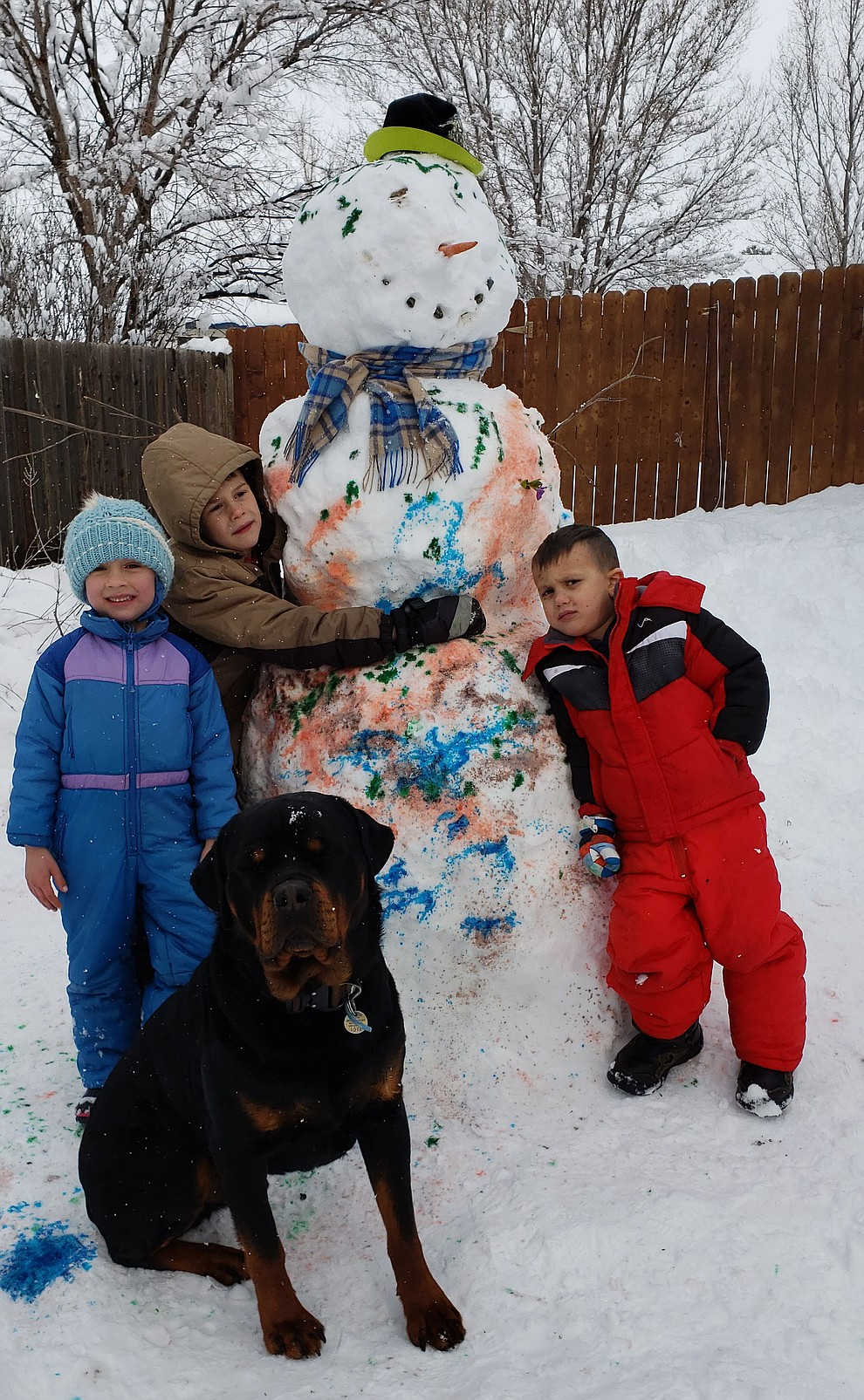Prescott Valley snowman by Marie Cundiff