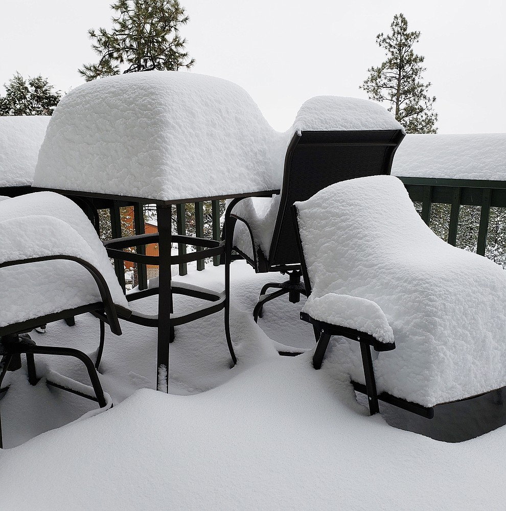 Photo taken on our deck up on Thumb Butte by Ron Mitchell