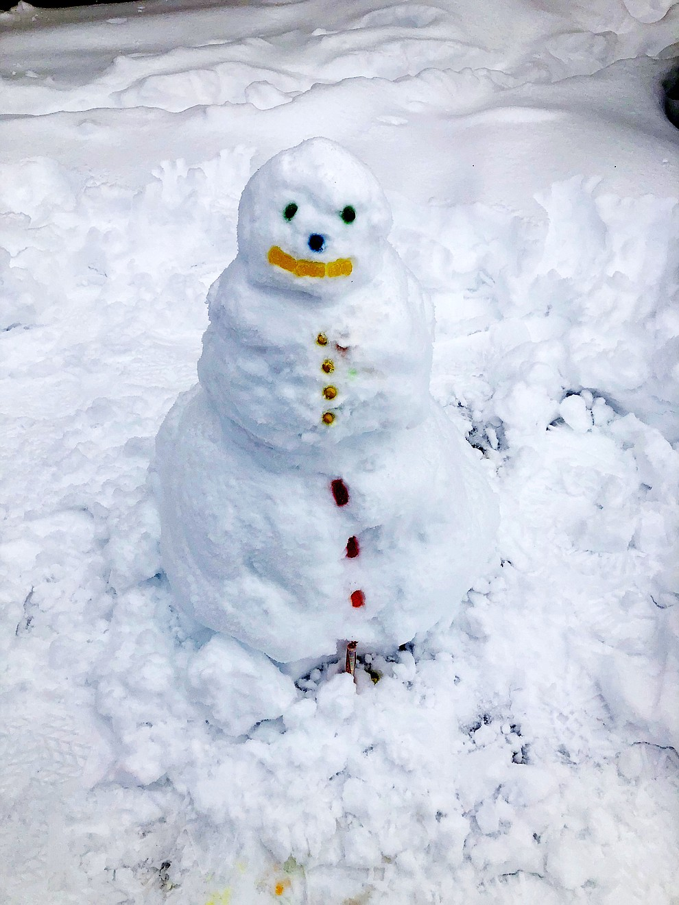 Baby snowman in Prescott Valley by Melissa Donovan