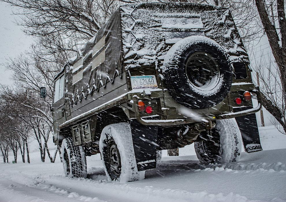 Here's some pictures I got out on the town with my truck, the Pinzgauer, last night and this morning! (Lucas Reed)