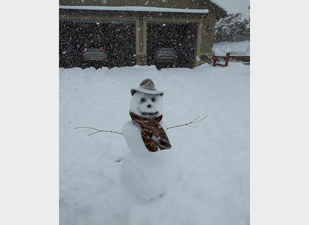 Snow man by Art Protas