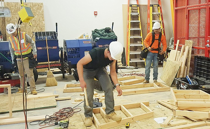 Students with Valley Academy of Career and Technology Education take part in the SkillsUSA regional 4 competition Feb. 1 in Holbrook. Photos courtesy Travis Black