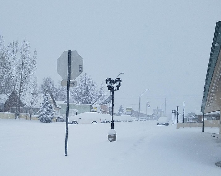 More snow is expected through Friday in Williams. (Connie Hiemenz/photo)