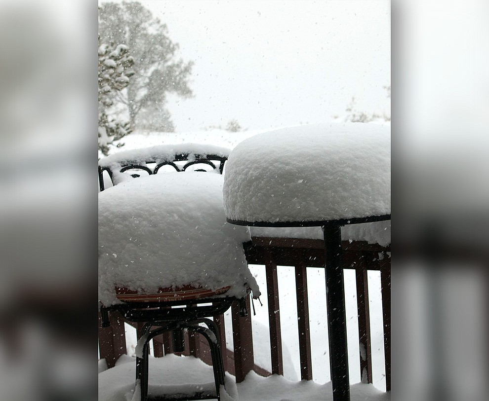 Won't be sitting on the deck today by Mary Lou Wills