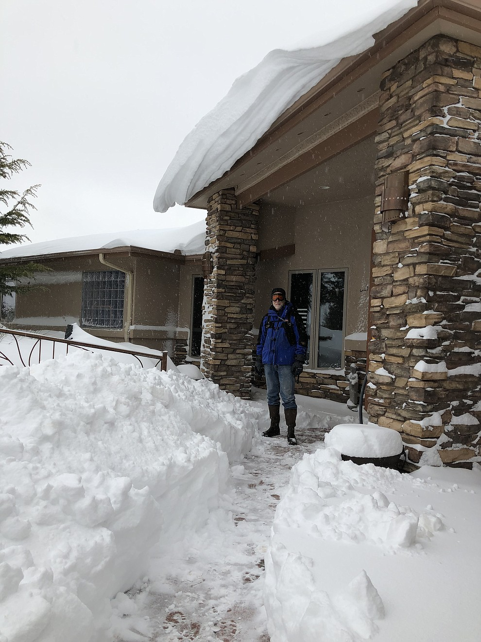 "We are at our house at about 5800' in Prescott. Took 2/22/19. We must have 30""+ here."