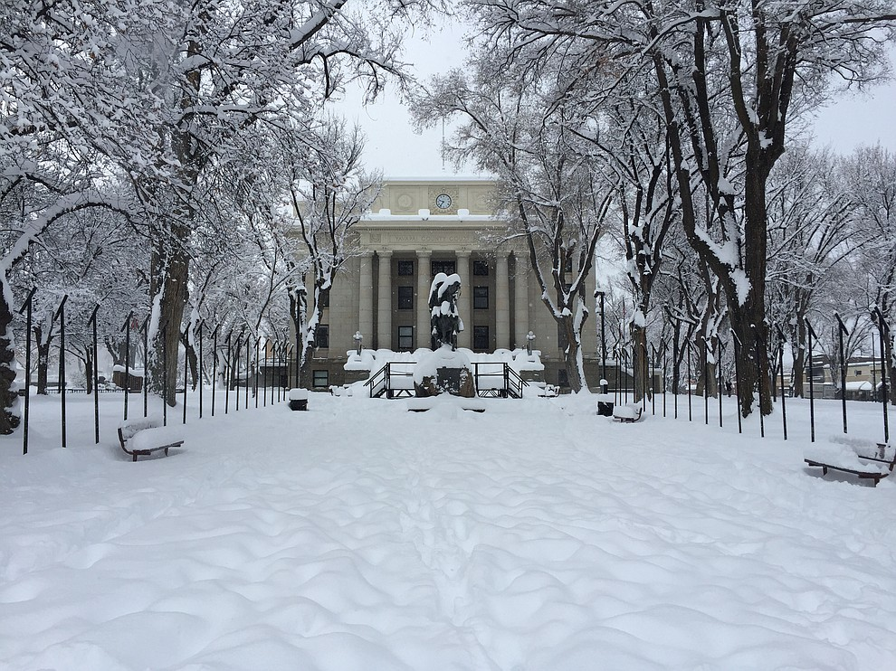 The Yavapai County Courthouse in Prescott Friday morning, Feb. 22. (Max Efrein/Courier)