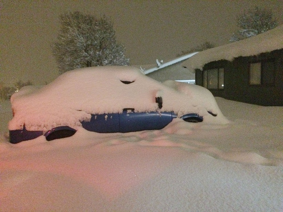 This is Prescott Valley Friday morning at 6 am. This car hasn't moved since Thursday. (Jason Wheeler/Courier)