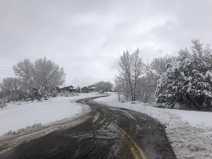 The City of Prescott warns that dropping temperatures today could result in icy conditions locally. (Cindy Barks/Courier)