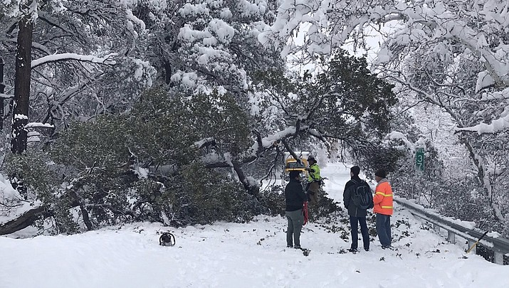 Update 11:30 a.m. Feb. 22: Storm continues to hinder travel in northern Arizona