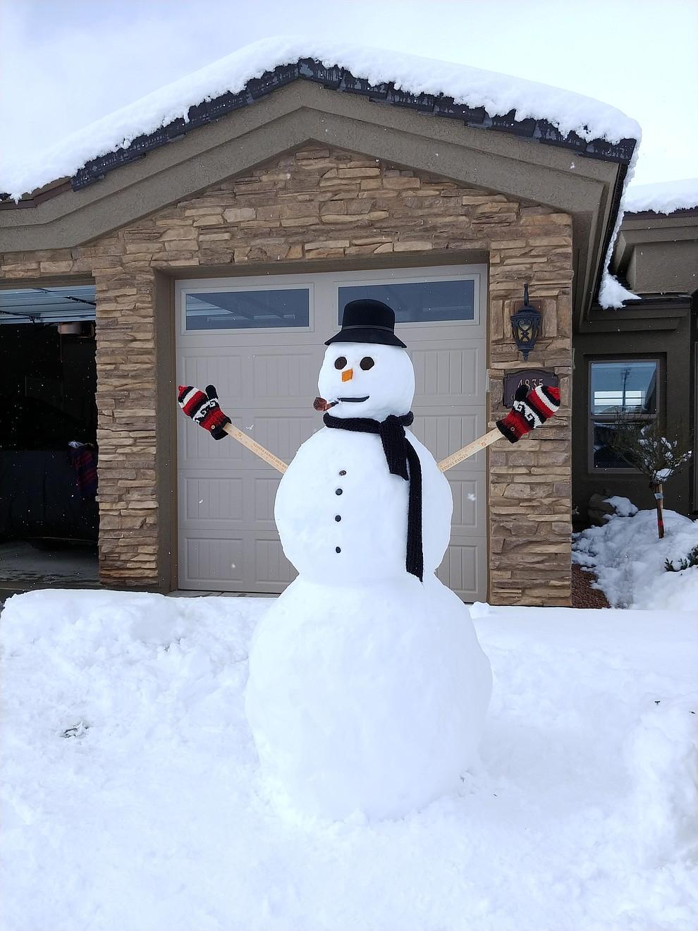 Friendly neighborhood snowman. (Photo submitted by Brian Bakunowski)