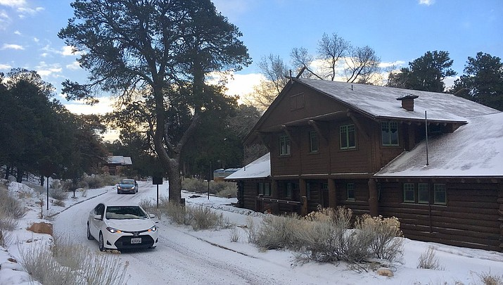 Grand Canyon National Park receives 12 inches of snow during winter storm, North Rim up to 22 inches