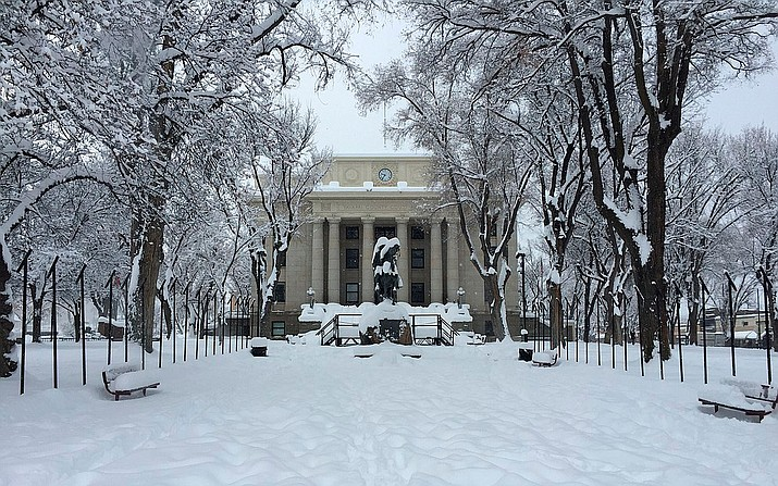 The Yavapai County Courthouse in Prescott Friday morning, Feb. 22, 2019. (Max Efrein/Courier)