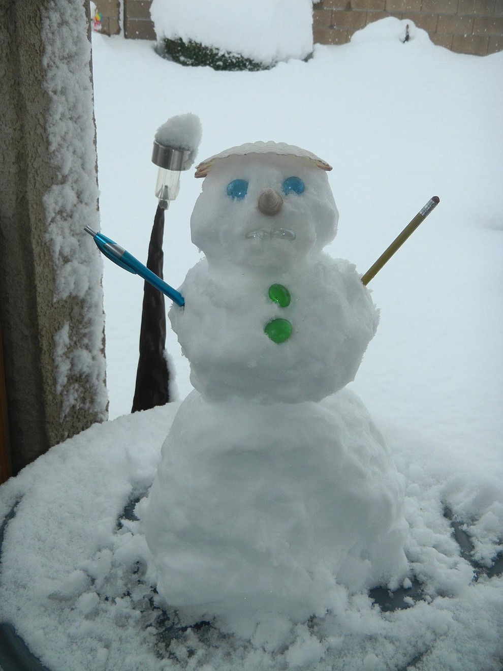 Becky created this cute little snowman. (Submitted photo)