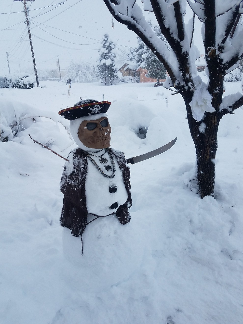 A pirate made an appearance in the snow. (Photo submitted by Lindsay Rankin)