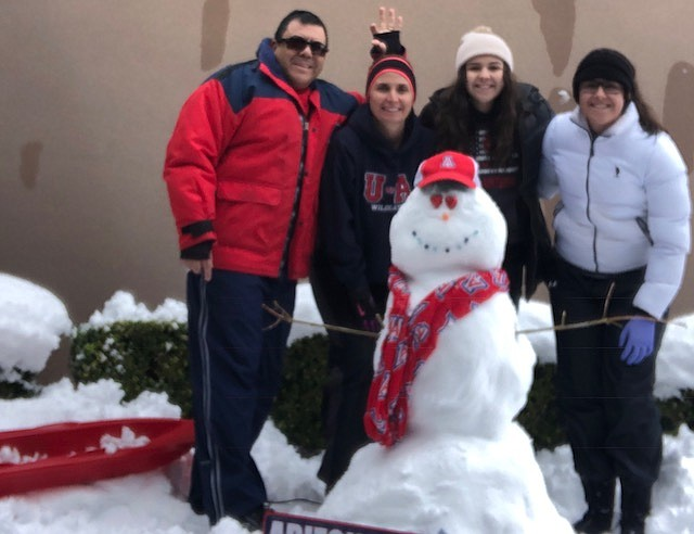 The Lucero family enjoyed making this snowman. (Photo sumbitted by Charlie Lucero)