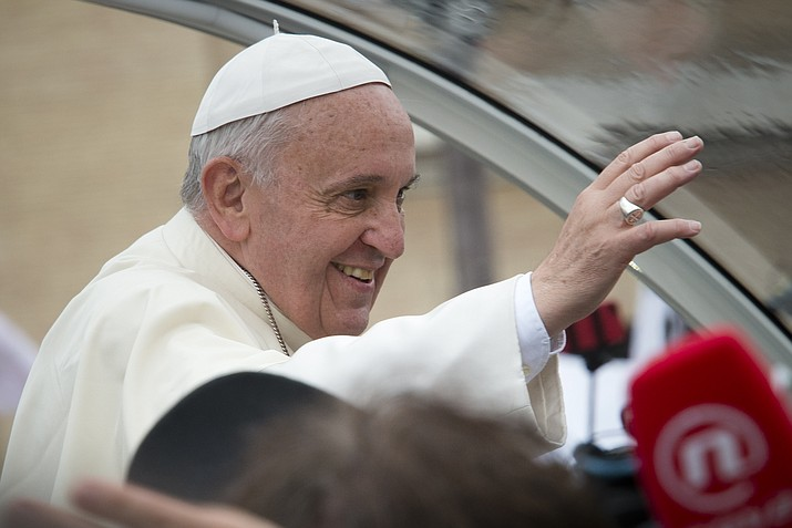 """Pope Francis closed out his summit on preventing clergy sex abuse by vowing Sunday to confront abusers with """"the wrath of God"""" felt by the faithful, end the cover-ups by their superiors and prioritize the victims of this """"brazen, aggressive and destructive evil."""" But his failure to offer a concrete action plan to hold bishops accountable when they failed to protect their flocks from predators disappointed survivors. (Photo by Aleteia Image Department [CC BY-SA 2.0] via Wikimedia Commons)"""