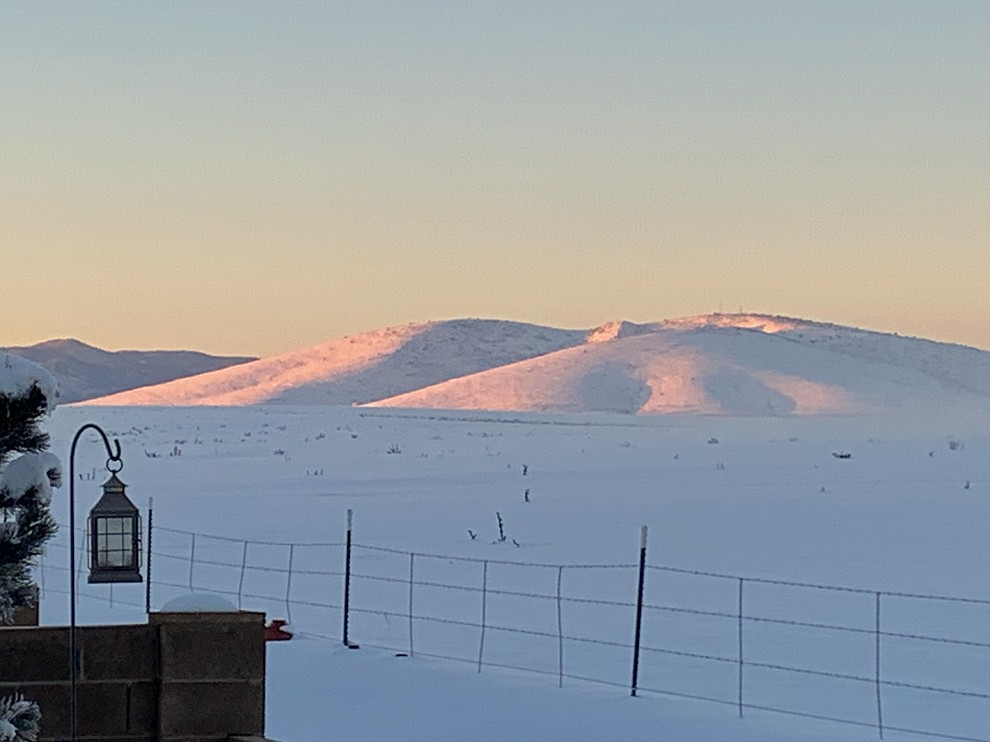 Sunrise at Glassford Hill after snowfall