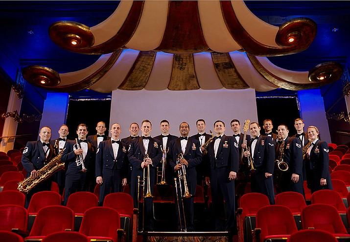 The Commanders Jazz Ensemble, part of the US Air Force Band of the Golden West from Travis Air Force Base in California, is swinging into Lake Havasu for a free concert at 6 p.m. on Saturday, March 2. (U.S. Air Force photo)