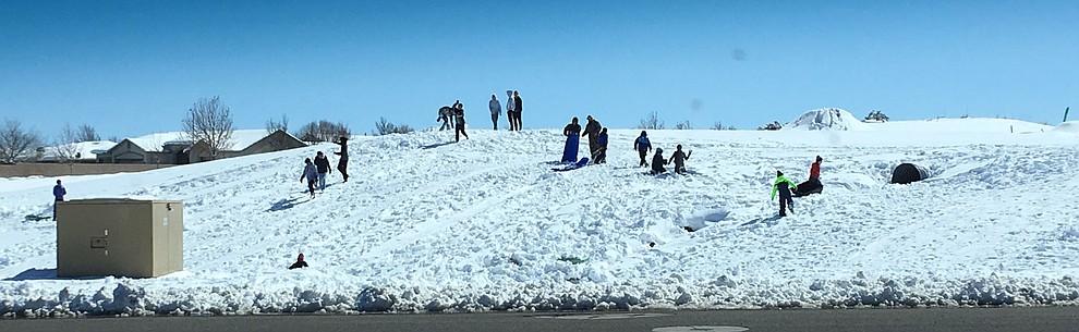 Granville snow fun. (Roger Stalter/PNN)