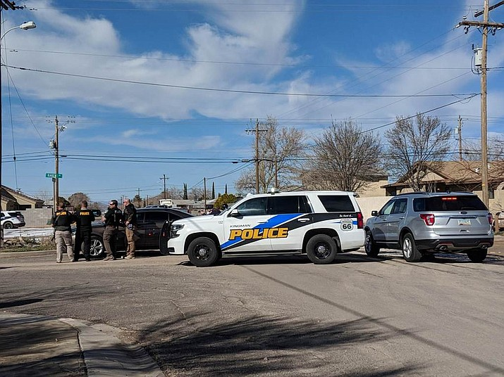 Police responded to a shots fired call at a residence near Mission Bank. (Photo by Travis Rains/Daily Miner)