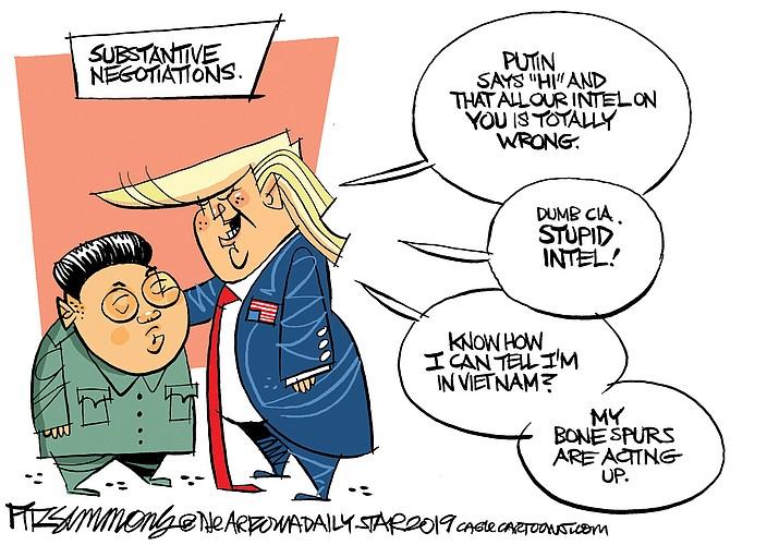 Editorial cartoon (2): Feb. 26, 2019