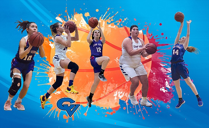Hope Ontiveros (10) was second team all-region, Tanna Decker (24) was Central offensive player of the year, Maya Hedges (12) was honorable mention, Jacy Finley (25) was first team all-region and Shelly Warfield (44) was honorable mention. Photos VVN/James Kelley