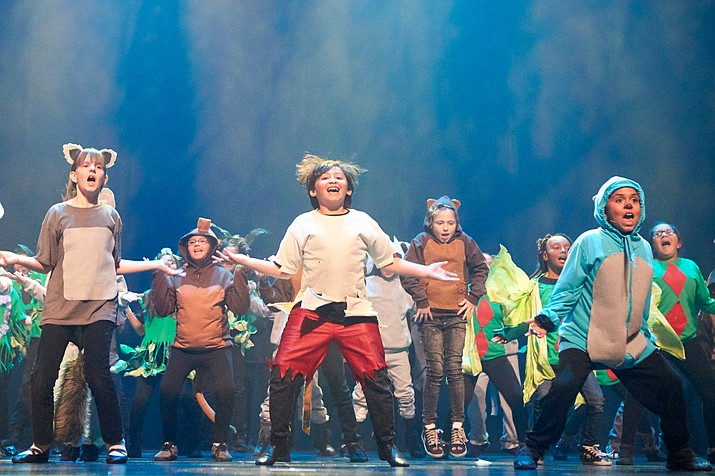 "Students performing ""The Jungle Book"" in front of family and friends after learning the musical for 17 weeks. (Photo Courtesy The Smith Center Photographer Geri Kodey)"