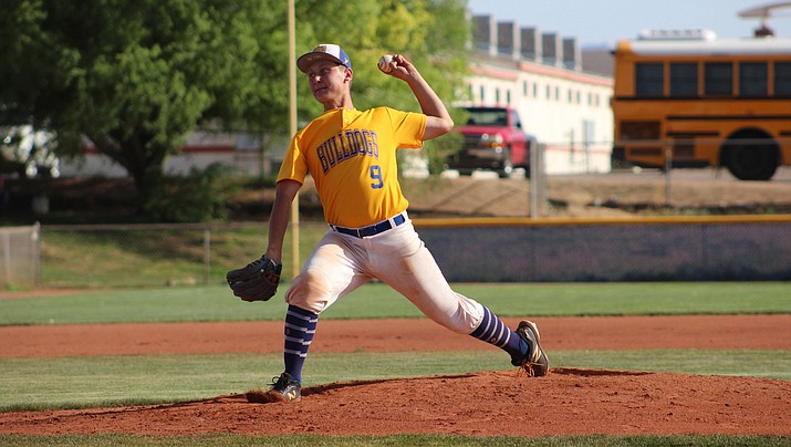 Rilee Araya tossed a complete-game shutout Monday as the Bulldogs opened the 2019 season with a 2-0 win over Paradise Honors. (Daily Miner file photo)