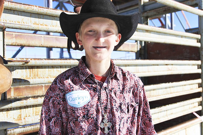Wyatt Kraft competed in the 12-13 year-old bull riding event at the Jr. National Finals Rodeo in December 2018. He plans to try again this year in saddle bronc riding and bareback riding events. (Loretta Yerian/WGCN)