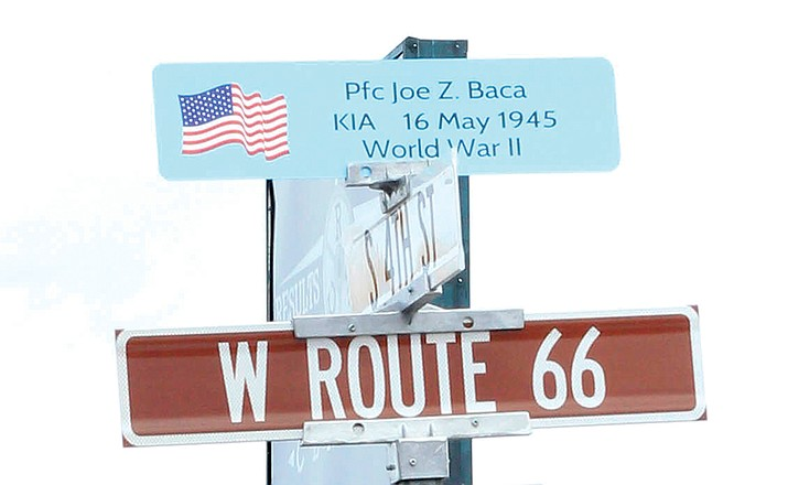 Hometown Hero Signs can now be seen on Route 66. (Loretta Yerian/WGCN)