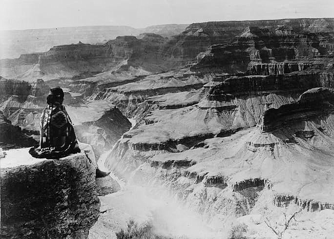 Grand Canyon National Park circa 1900-1940. This year marks the centennial of Grand Canyon's designation as a National Park. (National Photo Company Collection via Indian Country Today)