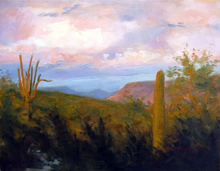 """Kathy Quick Anderson's oil of """"South of Lake Pleasant."""" (Phippen Museum/Courtesy)"""