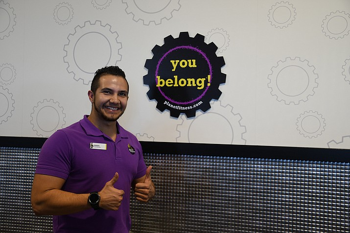 Daniel Sotelo, assistant regional manager for Planet Fitness, said the community has a great place to come workout and feel welcomed. (Photo by Vanessa Espinoza/Daily Miner)
