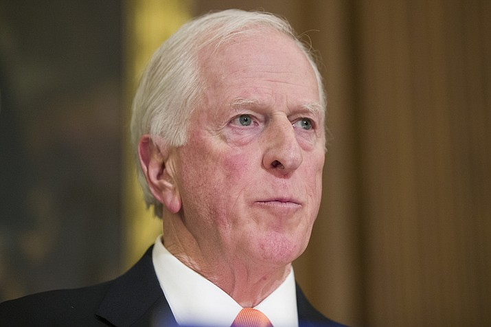 Rep. Mike Thompson, D-Calif., pauses while speaking during a news conference Jan. 8, 2019, to announce the introduction of bipartisan legislation to expand background checks for sales and transfers of firearms, on Capitol Hill in Washington. (Alex Brandon/AP, File)