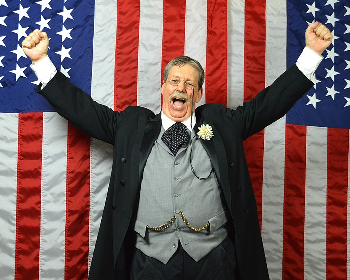 Derek Evans portrays Theodore Roosevelt and is coming to Prescott on a tour through Arizona for a show at the Elks Theatre and Performing Arts Center. (Derek Evans/Courtesy)