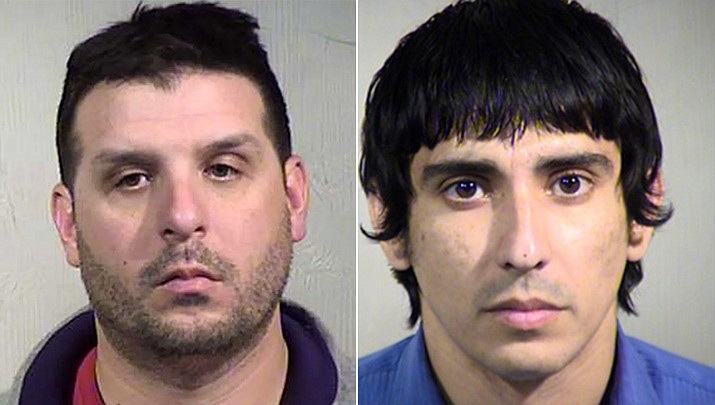 A state Grand Jury indicted three Arizona men on charges of Luring a Minor for Sexual Exploitation and Attempted Sexual Conduct with a Minor. Two of the men were employed at places where they worked with children. Vincent Ciliberti, left, was a football coach and teacher at Mountain Ridge High School in Glendale, and Mico Alejandro Cano was a Childcare Coordinator at Paradise Valley Unified School District. The name of the third individual is Dakota Reaney. (Arizona Attorney General's Office)