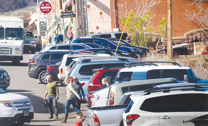 Jerome community leaders and stakeholders talked about the possibility of installing parking kiosks to help fund infrastructure projects Friday at the Jerome Fire Station. VVN/Vyto Starinskas