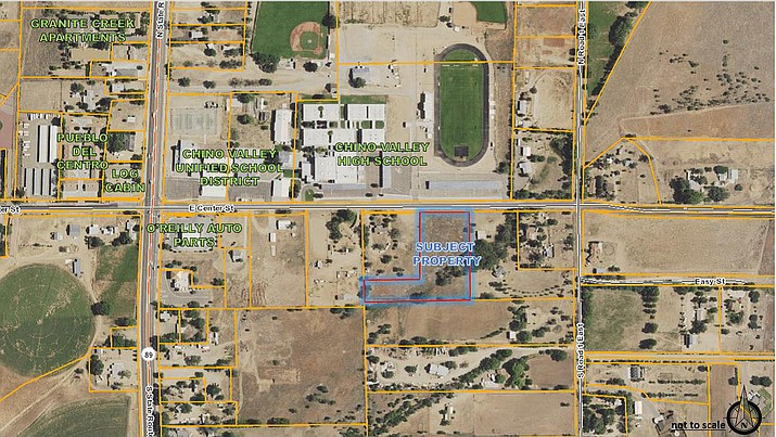 There could be a nine new duplexes one-fourth of a mile east of Highway 89 due to the Chino Valley Town Council's approval of a request to rezone nearly three acres of land at its meeting Tuesday, Feb. 26. (Town of Chino Valley/Courtesy)