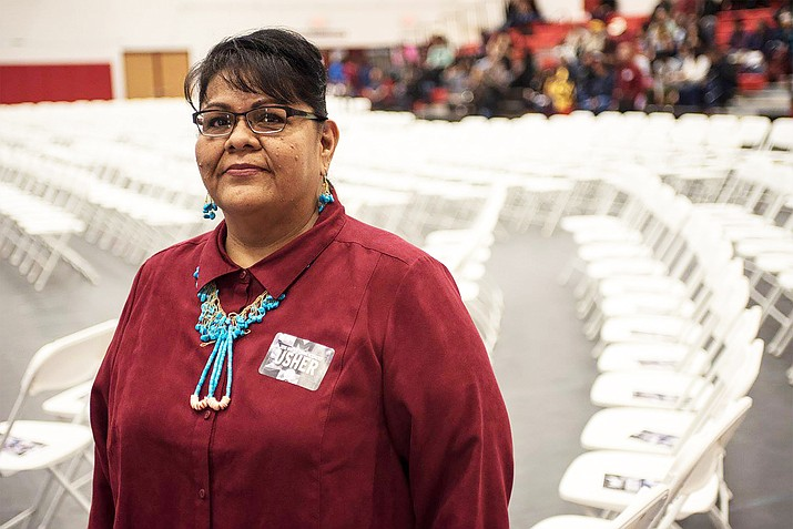 NTU graduate Leslie Tsosie was accepted into George Washington University's Native American Leadership program for the spring 2019 semester. (Photo/Navajo Technical University)
