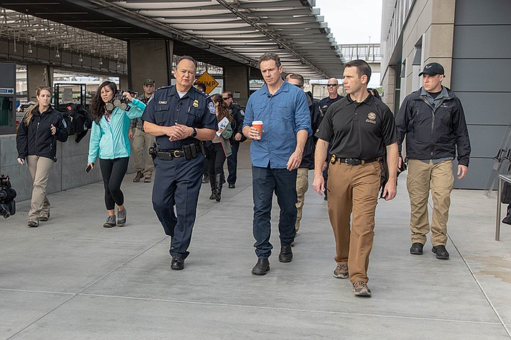 Commissioner Kevin K. McAleenan toured the San Ysidro Port of Entry with Pete Flores, Director of Field Operations in San Diego and reporter Chris Cuomo from CNN. Photos by Mani Albrecht U.S. Customs and Border Protection Office of Public Affairs-CBP Photography [Public domain]-via Wikimedia Commons (https://bit.ly/2C8qQQk)