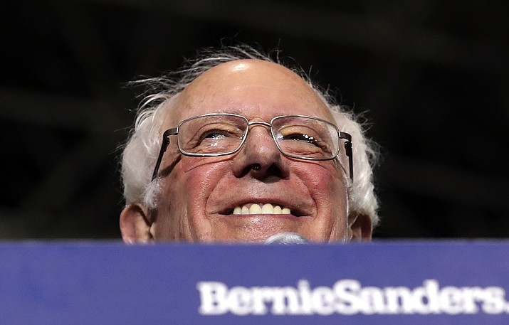 In this March 3, 2019, photo, Sen. Bernie Sanders, I-Vt., smiles as he kicks off his 2020 presidential campaign at Navy Pier in Chicago. (Nam Y. Huh/AP)