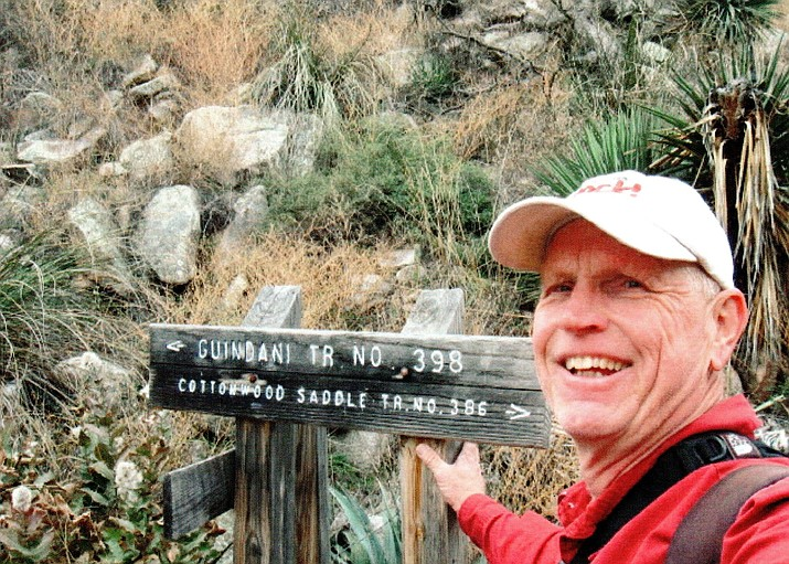 Ted Johnson at a trailhead in the Whetstone Mountains. (Ted Johnson/Courtesy)