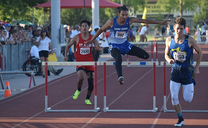 Camp Verde senior Chris Holdgrafer has won all his hurdles races so far this year. VVN/James Kelley