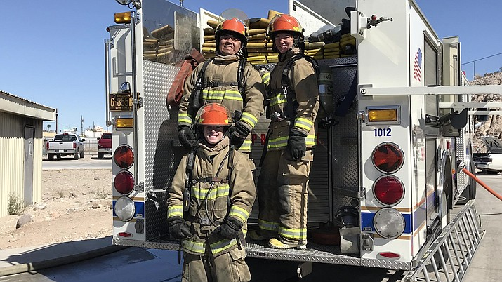 Melissa Ford, right, is a part-time firefighter with Kingman Fire Department and full-time firefighter with the Grand Canyon. (Photo courtesy of Melissa Ford)