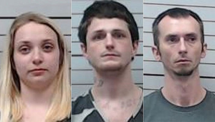Officials at a northeast Mississippi jail are charging 22-year-old Emily Yingling with introducing contraband into a jail after it was discovered she was sewing narcotics into donated socks. Two inmates also face charges — 27-year-old James Eaton of Saltillo and 38-year-old Randell Button. Inmates now must buy underwear, socks and T-shirts from the jail commissary. (Lee County Sheriff's Office)