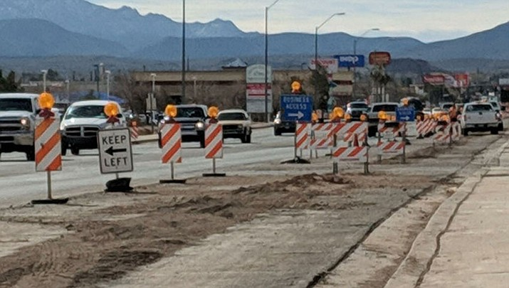 Stockton Hill Road construction. (Photo by Travis Rains/Daily Miner)