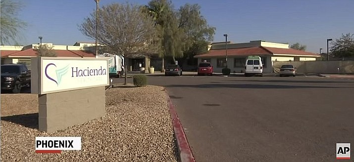 The Arizona Department of Health Services and Hacienda HealthCare entered into a voluntary agreement allowing state regulators to watch over the facility, which houses patients who are intellectually disabled or are medically fragile. (Photo capture via AP Video, file)