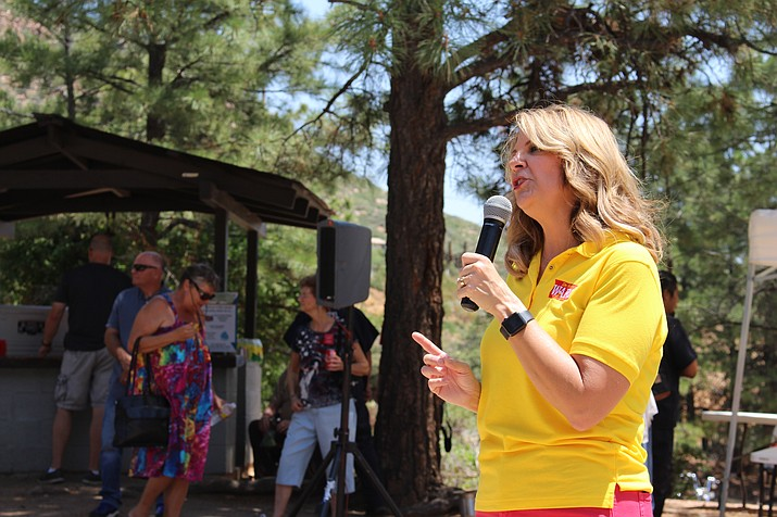 The Conservative Republican Club of Kingman is hosting Kelli Ward, the chairwoman of the Arizona Republican Party at 11:15 a.m. today at the Dambar Steakhouse, 1960 E. Andy Devine Ave. The meeting is open to the public, with a $3 meeting charge and lunch optional. (Daily Miner file photo)
