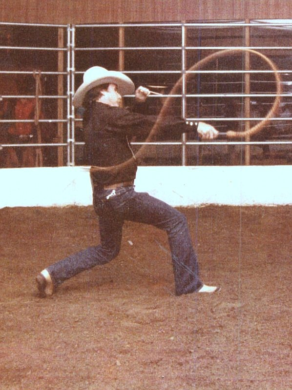 Craig Elliott, currently of Lake Havasu City, has been performing bull whip shows since 1981 at rodeos, fairs, and wild west shows. Saturday he will be displaying his unique talents during Chloride's annual St. Patrick's Day celebration. Included in Elliott's 11 a.m. performance are a talk about safety techniques and the history of bull whips. Stop by Cyanide Springs on Elkhart Avenue to watch the master perform. (Photo Courtesy of Chloride's St. Patrick's Day Committee)